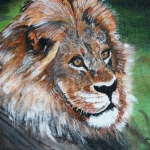 """Docile Lion"" by Joan Anthony"