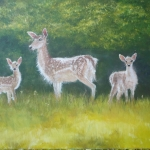"""Trio of deer"" by Frances Wheatley"