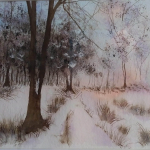 Wintry woodland by Heather Toms