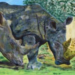 """""""Two Rhinos"""" by Peter Carr"""