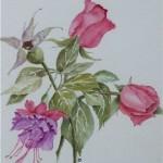 Rose and Fuschias(Audrey Ritchie)
