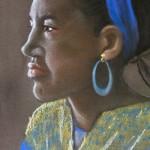 Blue Ear Ring(Angela Tremain)