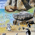 """""""Boulders Penguins S.A."""" by Joan Anthony"""