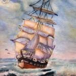 """""""Sailing Ship"""" by Gillian Cornish"""