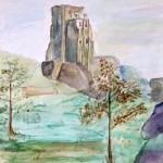 """Corfe Castle"""" by Lesley Pierce"""